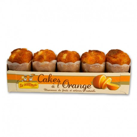 Cakes Ecureuils Orange x 5