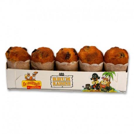 Cakes Ecureuils Rhum raisin x 5