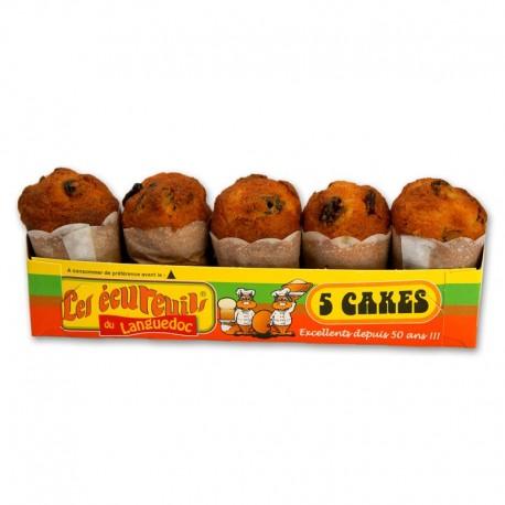 Cakes Ecureuils Raisin x 5 - 190 gr