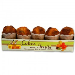 Cakes Ecureuils Fruits confits x 5 - 190 gr
