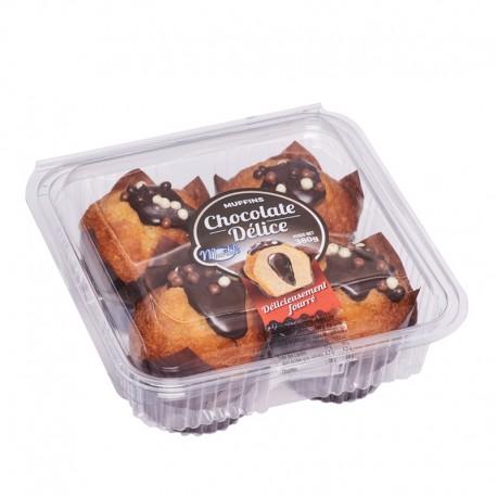 Muffins fourrés chocolat
